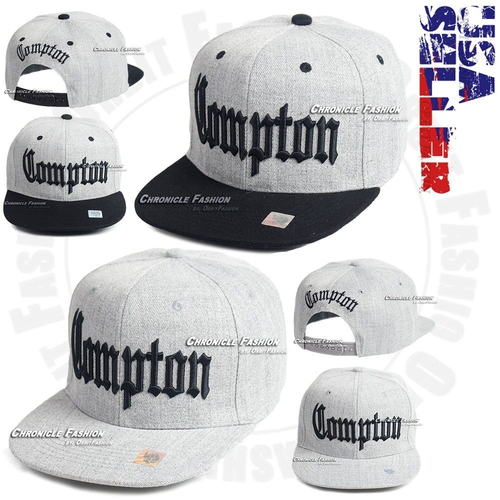 18ca12805c151b Compton Baseball Hat 3D Embroidered Cap Hip Hop Snapback Adjustable ...