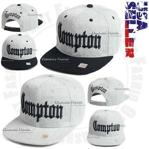 5d436f3db39 Compton Baseball Hat 3D Embroidered Cap Hip Hop Snapback Adjustable ...