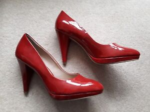 100ee8dbaac Details about Etam red heels, size 7 (40) worn once, in perfect condition