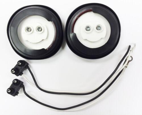 "2 Red 6/"" Oval 10 LED Trailer Stop//Turn//Tail Light 2 Red 2/"" LED Marker Light"