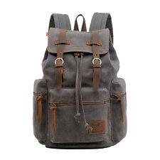 Retro Vintage Canvas Backpack Rucksack Travel Sports Satchel School Hiking Bag