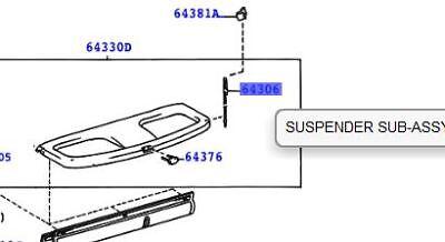 Genuine Toyota Yaris 2001-2003 Parcel Shelf String 64306-0D010