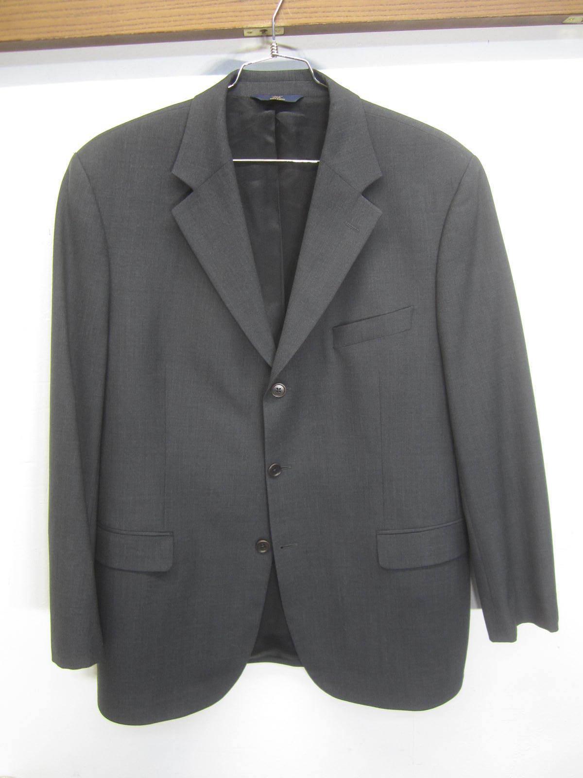Vtg Brooks Brothers 346 Blazer Sport Coat charcoal wool 3 btn sz 44R