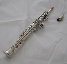 Professional Sopranino saxophone Eb key Silver sax Low B to high F# with case