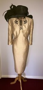 JACQUES VERT DRESS OUTFIT UK 18 WEDDING RACES FORMAL OCCASION