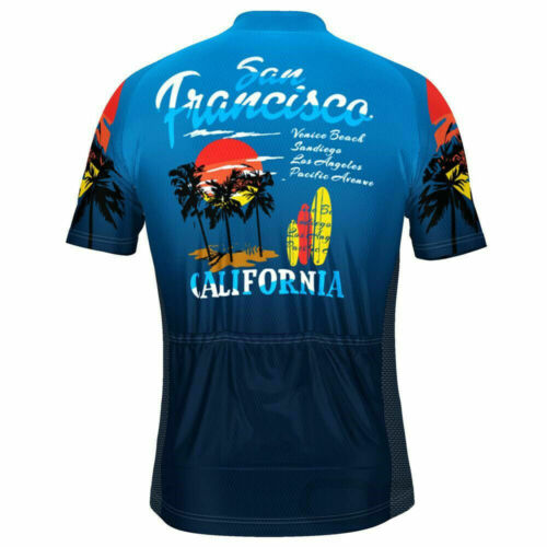 San Francisco California Beach Cycling Jersey cycling Short Sleeve Jersey