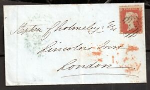 GB-QV-1854-1d-Penny-Red-small-Crown-on-cover-to-London-WS16953