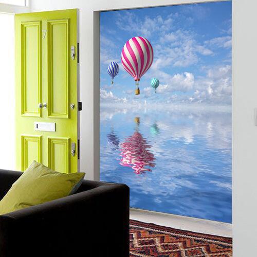 3D Sea Hot Air Balloons Wall Paper Wall Print Decal Wall Deco Wall Indoor Murals
