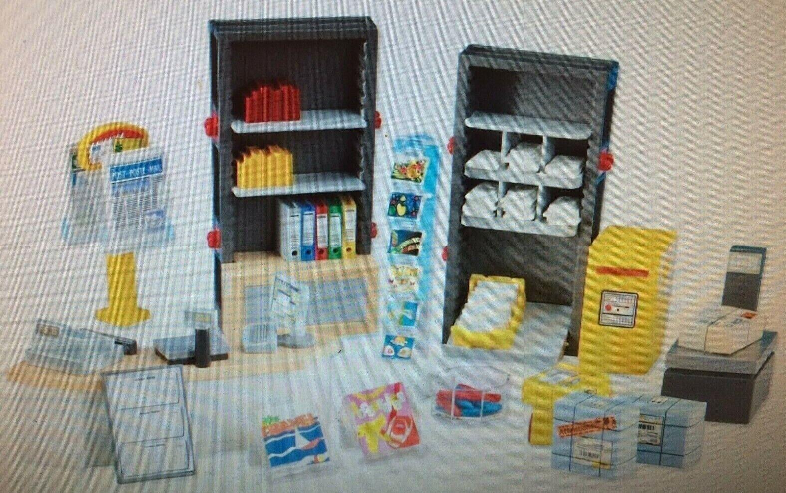 Playmobil 6293 bureau  de poste intérieur Play Set nouveau in sealed Sac d'accessoires rare  économiser 60% de réduction