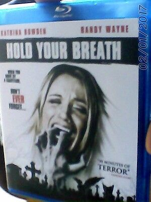 HOLD YOUR BREATH blu ray. Region free. NOT RELEASED IN UK!