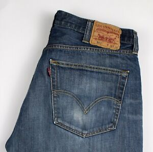 Levi-039-s-Strauss-amp-Co-Hommes-501-Jeans-Jambe-Droite-Taille-W38-L34-AKZ451