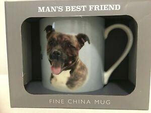 STAFFORDSHIRE BULL TERRIER MUG ~ LEONARDO DOG BREED RANGE ~NEW ~ GIFT BOXED