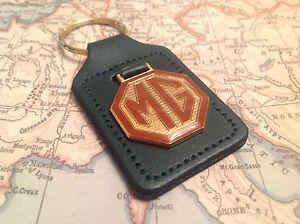 Accessoires & Fanartikel Mg Schlüsselanhänger Emblem B C A Tc Tf Midget Roadster F Echtleder Grün Leder