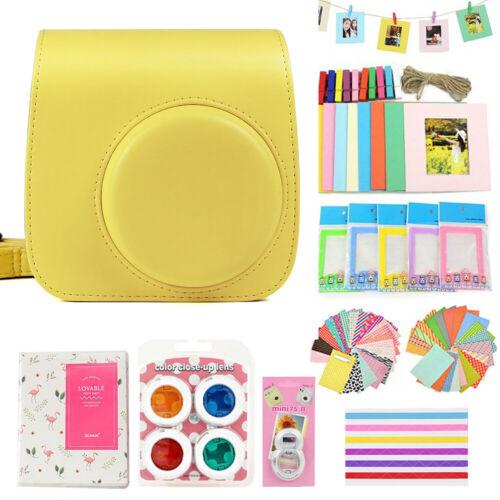 For Fujifilm Instax Mini 8 9 Case Carry Bag 10-IN-1 Camera Accessories Kit