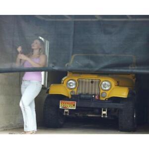 """Garage Door Roll up Screen overhead Retractable Mesh Barns Insect Bug 120/"""" x 96/"""""""