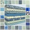favourite blue florals spots & stripes 100% cotton fabric & FQ BUNDLE FREE P&P