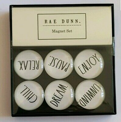 Aufrichtig ☆☆ Rae Dunn Magnet Set, 6 Glass Dome Magnets ☆☆