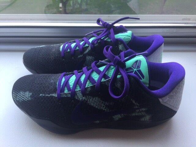 Mens New Kobe 11 XI ID Poison Berry Teal Black White Purple Size 10 New