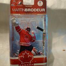 Mcfarlane Martin Brodeur hockey 2010 Olympics NIB. HHOF goalie #1 wins &shutouts