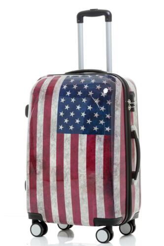 Design Koffer Reisekoffer Hartschalenkoffer Trolley 66cm 70L Motiv BB USA Flagge