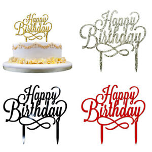 Happy Birthday Cake Topper.Details About Birthday Cake Topper Happy Birthday Letters Party Supplies Acrylic Fashion Decor
