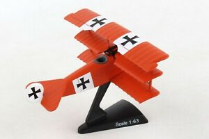 POSTAGE-STAMP-FOKKER-DR-1-034-MANFRED-VON-RICHTHOFEN-034-1-63-SCALE-DIECAST-MODEL