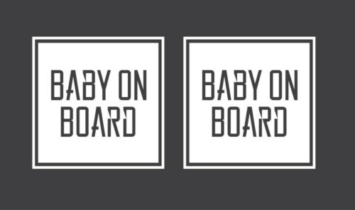 2xBaby On Board Vinyl Decal Geometric Car Baby On Board Sticker Surface Washable