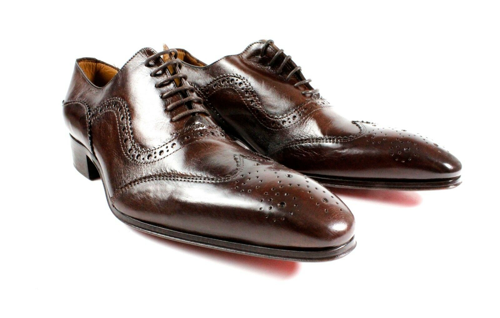 IVAN TROY Baki Brown  Handmade Men Italian Leather Dress shoes Oxford shoes