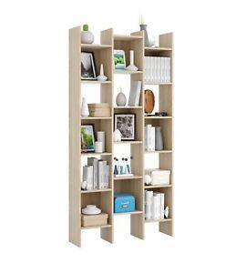Estanteria-libreria-salon-comedor-estanteria-triple-Roble-Canadian-Italian