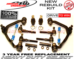 Heavy Duty Ball joint Control Arm Tie Rod End Kit for 1998 Ford F150 4x4
