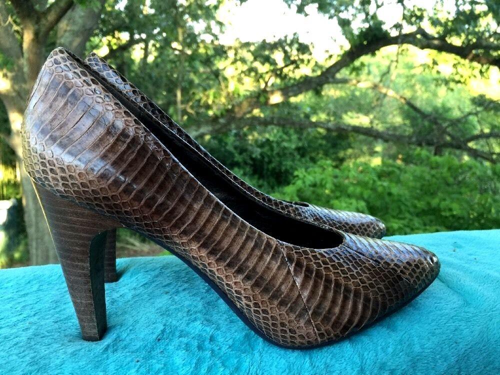 B MAKOWSKY Snake Skin Purse HIGH HEELS Pumps Python Leather Womens shoes Sz 6.5