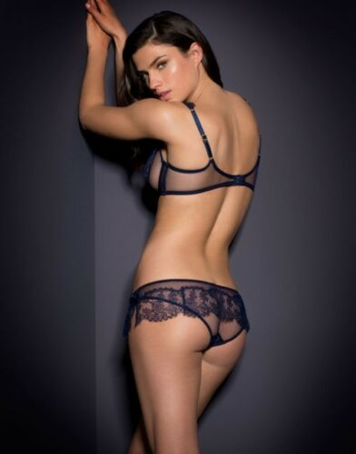 8 of 11 Agent Provocateur Sexy Willa Navy Blue Frilled Skirt Ouvert Open  Brief Bnwt 44ac726a8