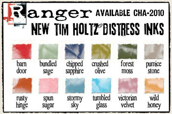 Tim Holtz 12 Distress Ink REINKERS 2010 NEW Colors
