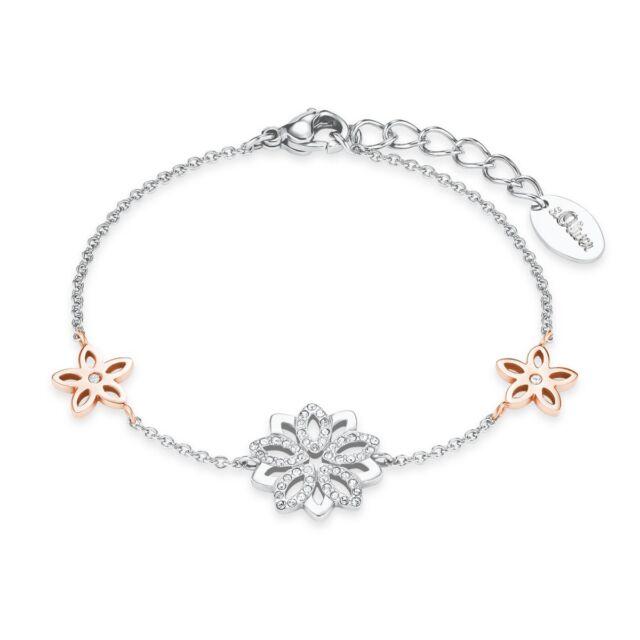 Oliver Jewel Damen Armband Armkette Edelstahl silber Blume 2021085 ad108c39c0