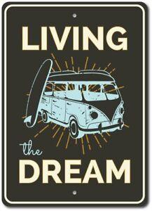 Living-The-Dream-Sign-Beach-Van-Sign-Van-Decor-Aluminum-Sign-ENSA1003367