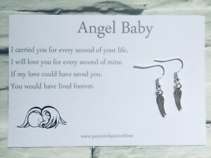 Details about 925 Sterling Silver Earrings, Bereavement, Miscarriage,  Stillborn, Loss 💎 #EM