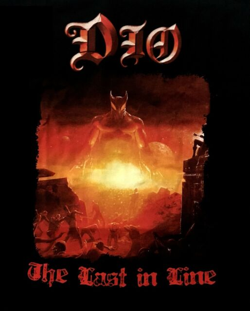 DIO cd cvr LAST IN LINE Official One-Sided SHIRT XXL 2X New black sabbath