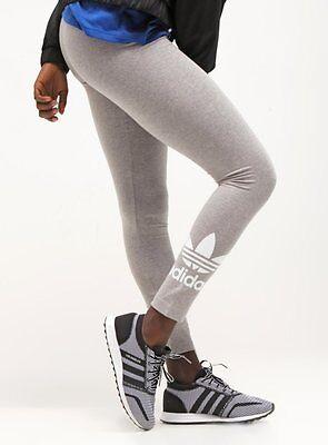 UK 10,12,14   BLACK BNWT 180 SOLD! WOMENS ADIDAS ORIGINALS TREFOIL LEGGINGS