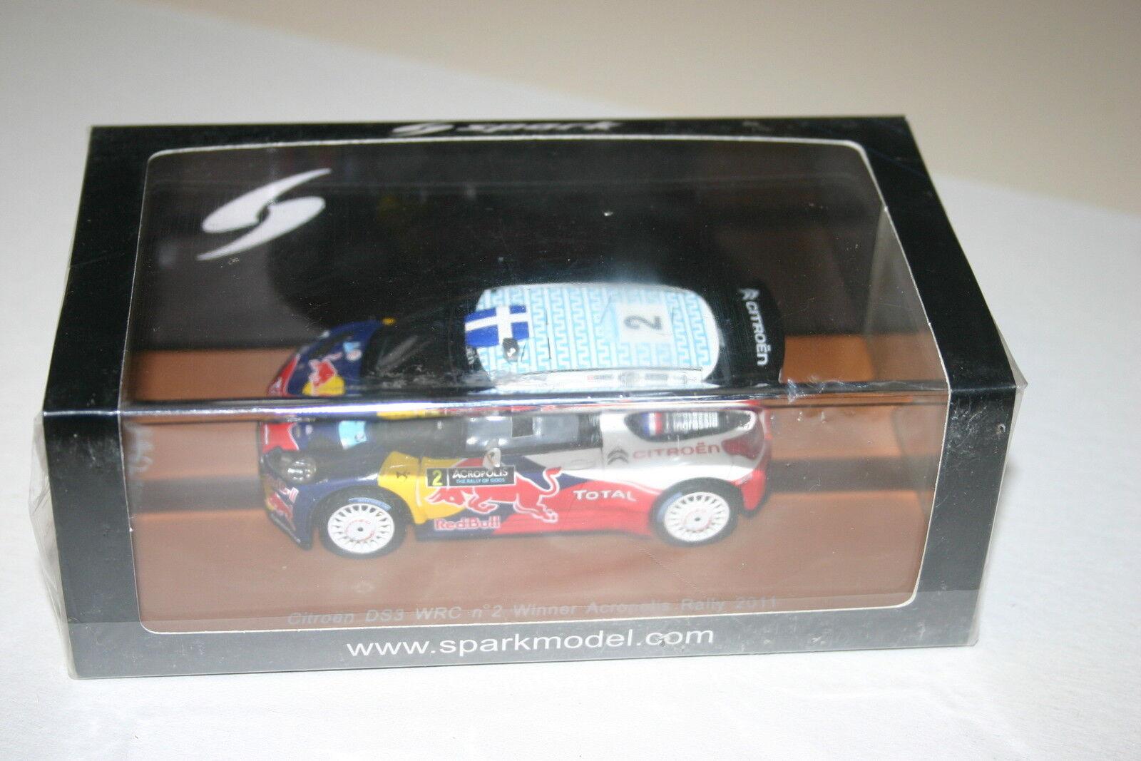 1 43 CITROEN DS3 WRC OGIER WINNER ACORPOLIS RALLY 2011 LTD 500 SPARK
