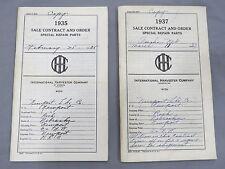 1935 McCormick Deering International Harvester IH Dealer Special Parts Catalog L