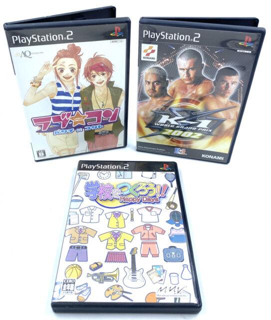 [JAP] Lot de 3 jeux pour Playstation 2 / PS2 Version Japon K1 2002, Happy Days..