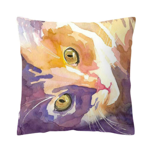 """18/"""" Cojines Throw Pillow Cover Portrait Tabby Cat Decorative Square Cushion Case"""