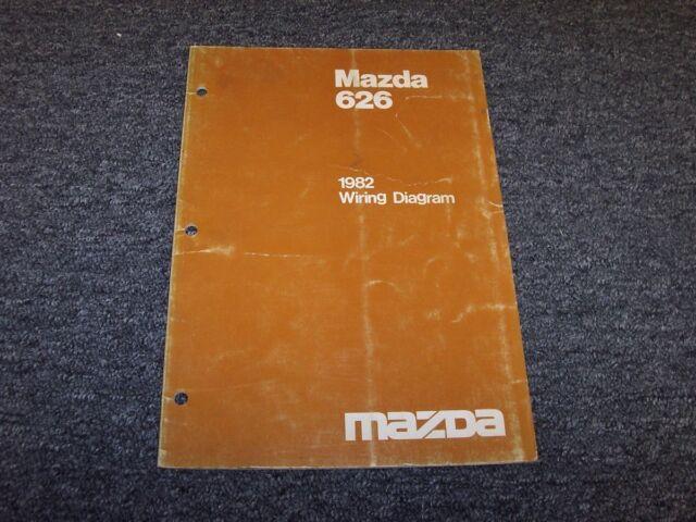 1982 Mazda 626 Sedan Original Electrical Wiring Diagram ...