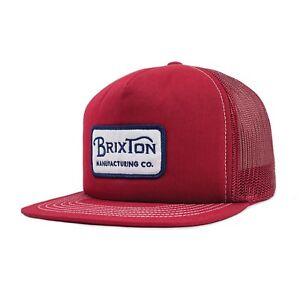 b0e93e38b Details about BRIXTON GRADE MESH SNAPBACK CAP WHITE/ NAVY / BURGUNDY