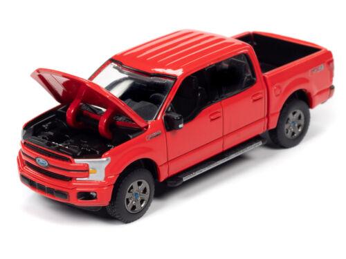 2020 AUTO WORLD 1:64 *PREMIUM 3B* RACE RED 2018 Ford F-150 Crew Cab Pickup NIP