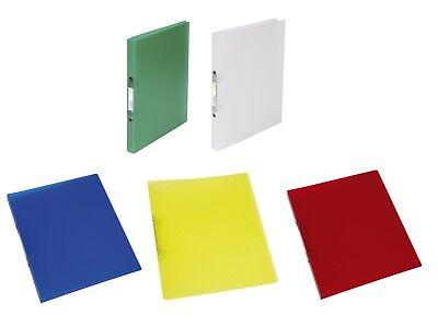 transzulent 4 Ring 25mm Farben wählbar 12 x Ringbuch Ringordner Ringheft DIN A4