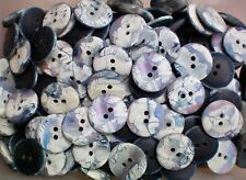 20mm 36L Light Grey Soft Cream Abstract Marbled 2 Hole Craft Buttons Button W721