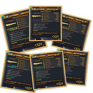 Borderlands-3-Yellowcake-ALL-Elements-LVL-57-Modded-XBOX-PS4