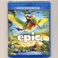Epic 2013 Pg-13 Animated Fantasy Action-adventure Movie, Blu-ray & Dvd &uv