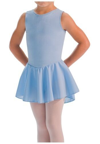 Kids Blue MotionWear Skirted Dance Tank Leotard MT4311592 Size XS 2-3 INT 6X-7